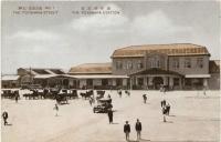 Железнодорожный вокзал г. Тоёхара. Год съемки приблизителен.