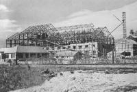 Строящийся сахарный завод г. Тоехара.