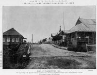 Часть Владимировки. Справа видна местная церковь. Слева больница и жилые дома.
