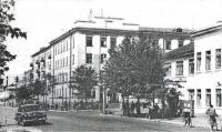 Улица Ленина. Здание управления железной дороги. Рядом в двухэтажном здании, располагались редакции газет