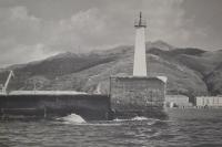 Входной маяк в порту Невельска