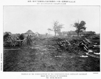 Артиллерийская батарея в Дальнем. Русско-японская война 1905 г.