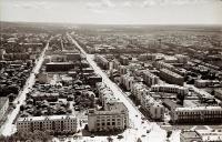Панорама центрального района г. Южно-Сахалинска. Серия фотографий. Улицы Ленина и Амурская