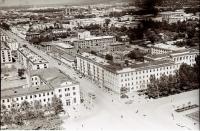 Панорама центрального района г. Южно-Сахалинска. Серия фотографий. Главпочтамт
