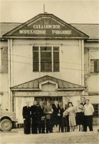 Центральный вход мореходного училища (ул. адм. Макарова). Начало 50-х годов.