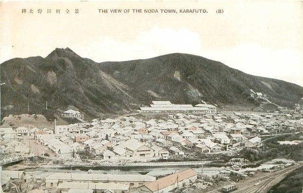 Вид на город Нода. Цвет.