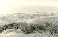 Вид на город Холмск с горы.