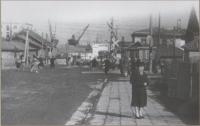 Улица Морская, район железнодорожного переезда. г. Холмск