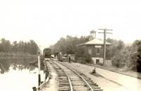 Общий вид станции Комсомольская, Южно-Сахалинской детской железной дороги