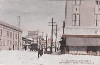 Зимняя улица Сакаэ в Отомари. Слева видно здание банка Хоккайдо Такусёку