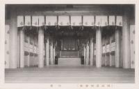 Внутри помещения храма Маока дзинзя г. Маока