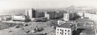 Администрация, площадь Ленина, кинотеатр Россия в г. Холмске