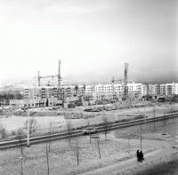 Строительство 11 микрорайона, вид с проспекта Мира, г. Южно-Сахалинск