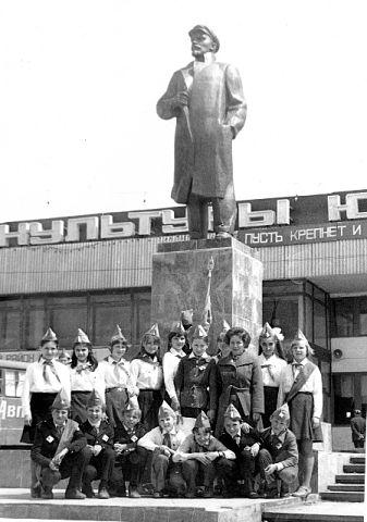 Площадь Ленина в г. Тымовское