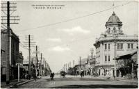 Главная улица О-дори. Справа здание универмага. Вид с юга на север.