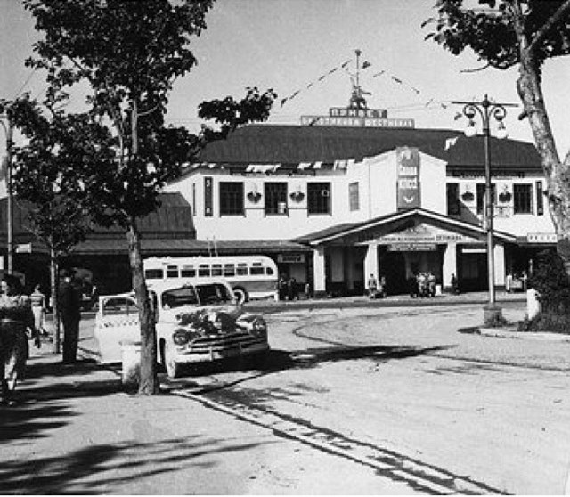 Старое здание железнодорожного вокзала г. Южно-Сахалинск.
