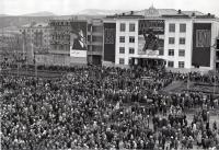 Торжественный митинг площади революции г. Южно-Сахалинска. Фото сделано 7 ноября.