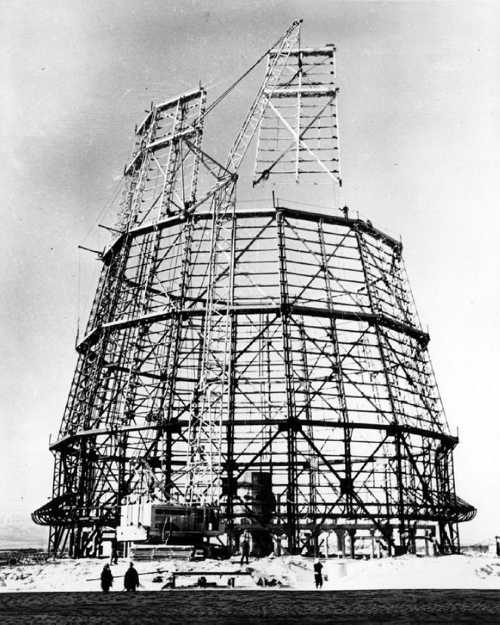 Строительство градирни Южно-Сахалинской ТЭЦ-1