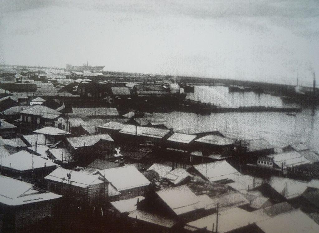 Центр города г. Маока, 1940-1944-е годы