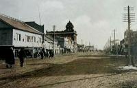 Главная улица Оодори. Слева здание Управления полиции.
