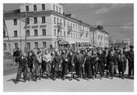 Шествие молодежи по улице Ленина. Май 1955 года