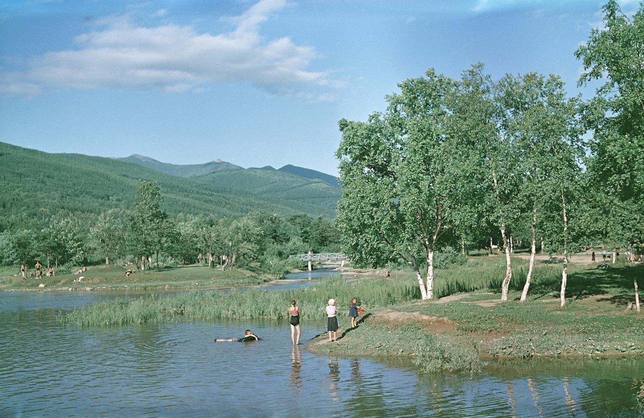 Верхнее озеро. Городской парк.