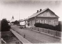 Вид на здание Корсаковского Окружного Полицейского управления