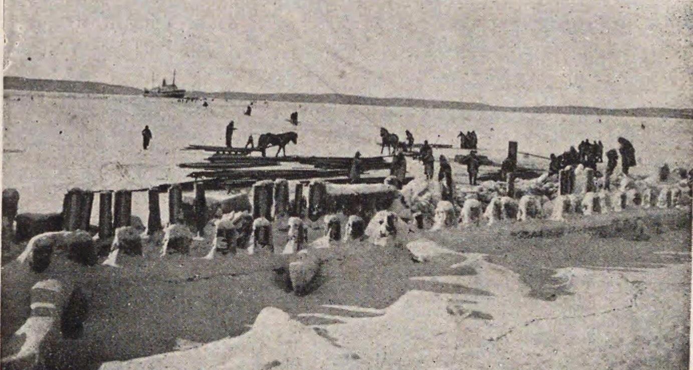 Карафуто. Зимой в порту Одомари