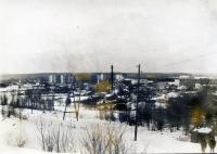 Середина 80-х г. Вид на Ноглики со стороны сопки Любви.