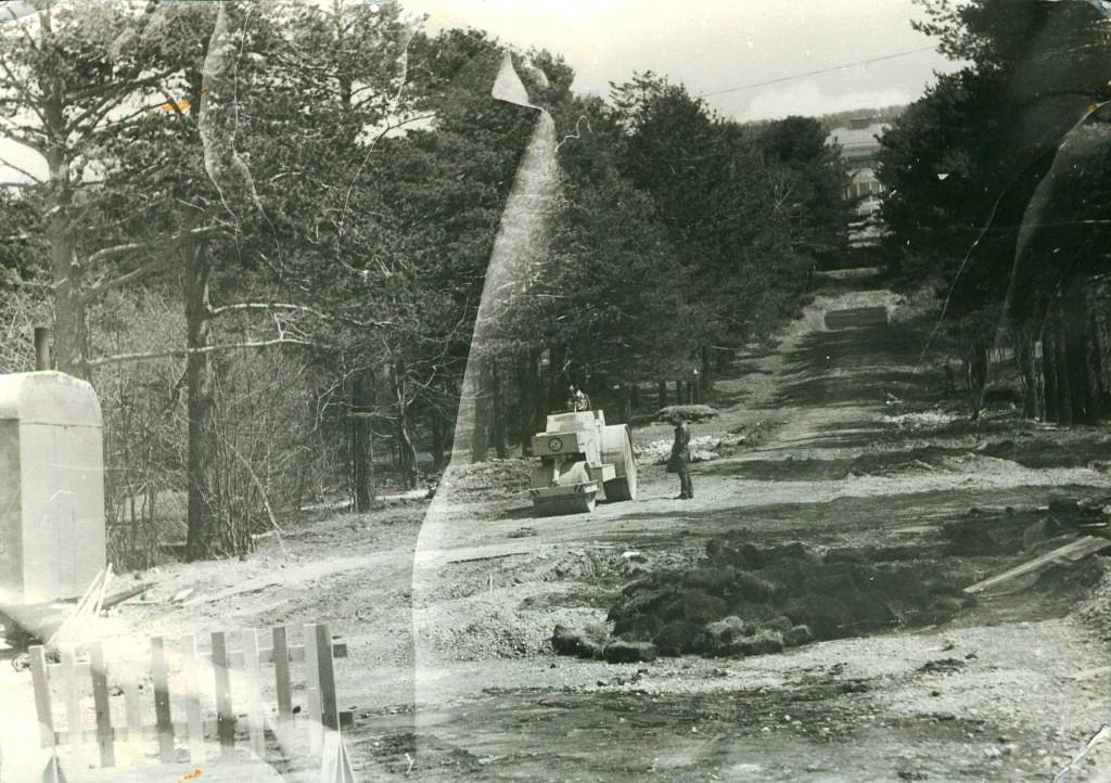 Строительство площади Славы. Вдалеке виднеется гостиница