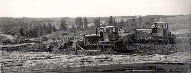 Начало строительства поселка.