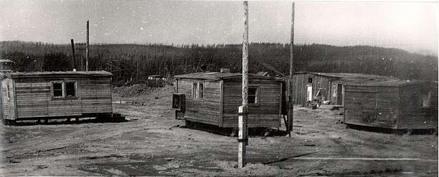 Будки первых строителей.