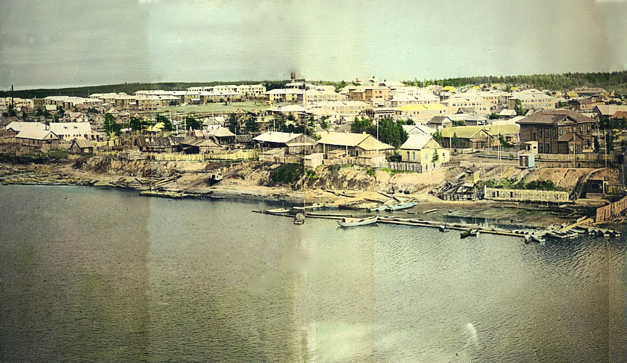 Панорама 2 из 5. г. Ноглики. Снято с японского плавкрана.