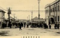 Вид на железнодорожную станцию Тоёхара. Снято от здания почты.