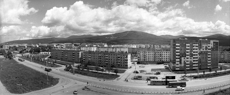 Панорама 9-го микрорайона г. Южно-Сахалинска.