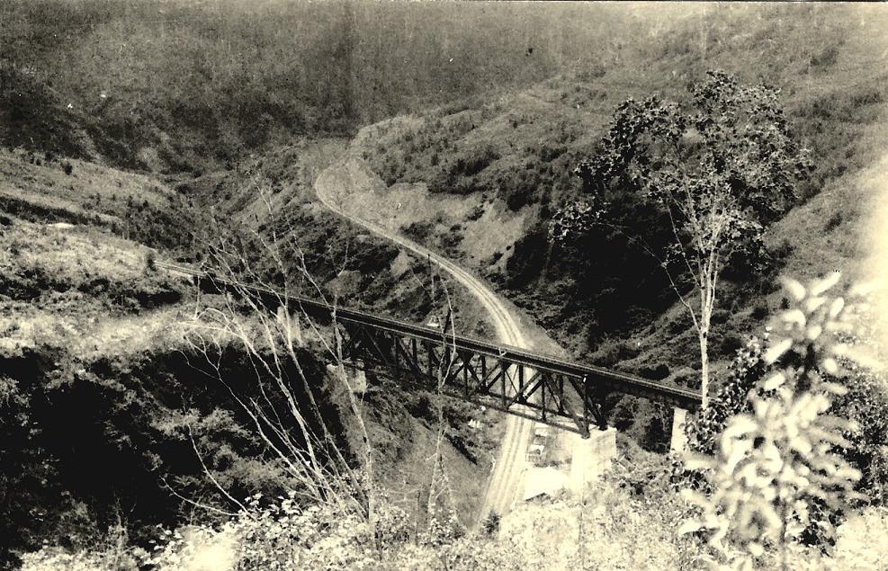 Вид на железнодорожную петлю Тойхара-Маока
