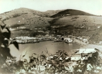 Порт Малокурильск. На сопке слева виден профиль В.И. Ленина.