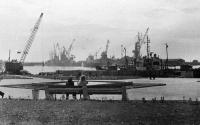 Порт в городе Корсаков.