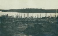 Строительства дома отдыха на Медвежьем озере.