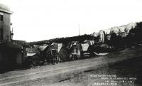 Вид на часть здания торгово-промышленной палаты Карафуто и на гостиницу города Отомари.