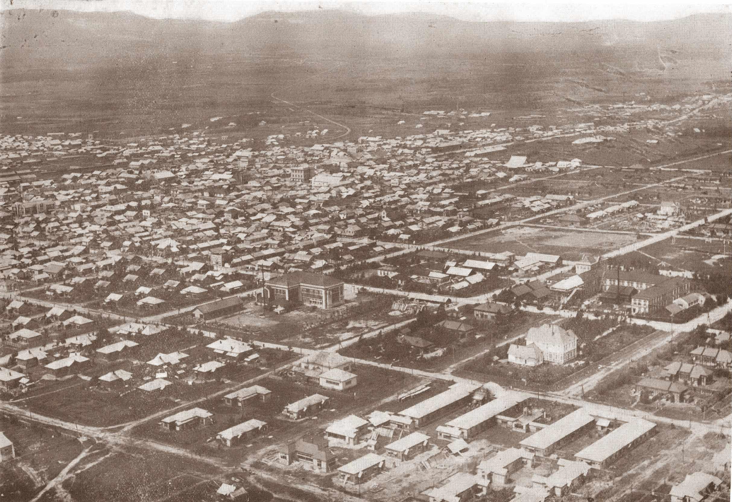 Вид на город Тоехара.