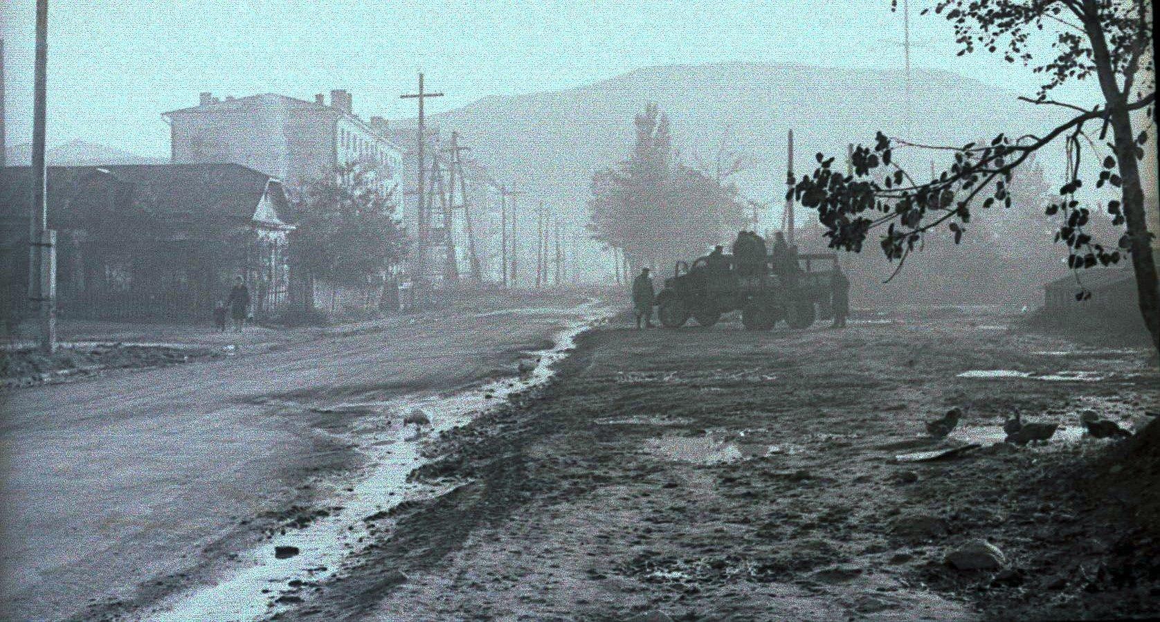 Перекресток улиц Южной и Предгорной.