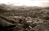 Вид с сопки на шахтерский поселок Тельновский.