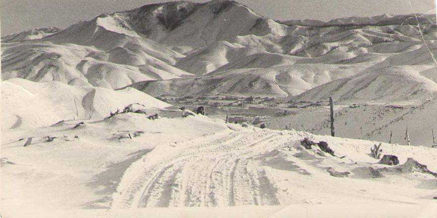 Вид на поселок Тельновский. Зима.