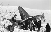 Катастрофа самолета 'Ил-14' в районе карьера Известковый, декабрь.