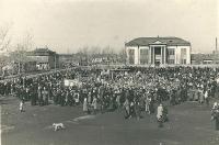 Ярмарка на городской площади в г. Томари