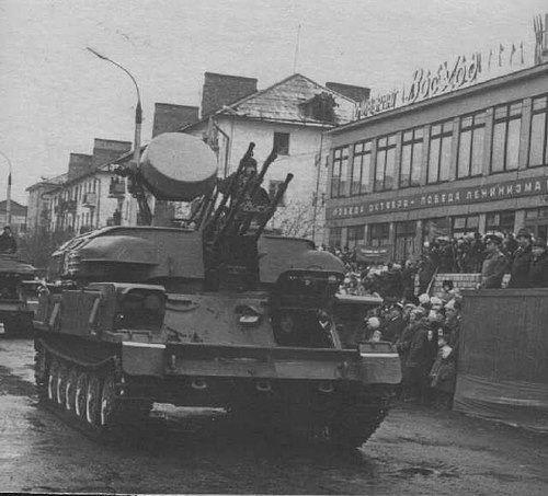Празднование 30 лет Победы на центральной площади г. Поронайск