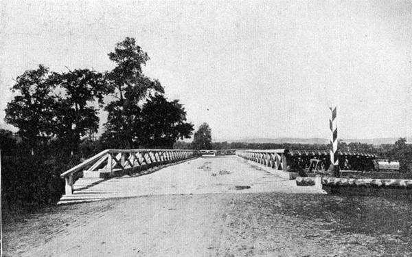 Мост через реку Тымь в селении Дербинское.