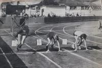 Легкоатлетические соревнования на стадионе «ДОСА» в Южно-Сахалинске.