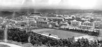 Панорама города c колеса обозрения. Внизу виден стадион Водник.